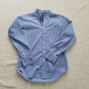 Ralph Lauren Blue and White Button Up Shirt